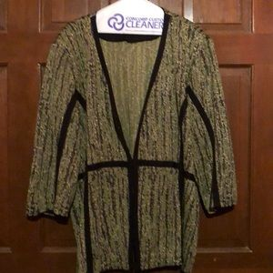 Green and Gold Misook blazer!